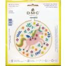 DMC Broderi kit 15 cm. Enhjørning