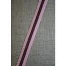 Stribet elastik rosa - bordeaux