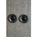 Bamse øje klar/sort 10 mm.