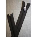 56 cm delbar lynlås YKK mørk grå-brun