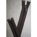 68 cm delbar lynlås YKK, mørkebrun