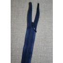 55 cm. usynlig lynlåse, mørkeblå