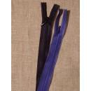 18 cm usynlig lynlåse klar blå