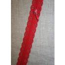 Rest Blonde-lynlås i metermål, rød 87 cm.