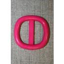 Plast spænde m/afrundede hjørner 25 mm. pink