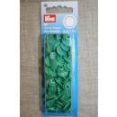 Plast-trykknap rund, grøn