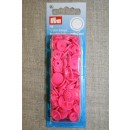 Plast-trykknap rund, pink