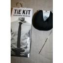 DMC Tie kit/Hæklet slips, sort