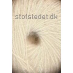 Børstet uld fra Hjertegarn i off-white