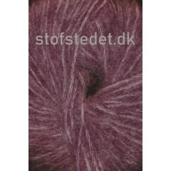 Børstet uld fra Hjertegarn i vinrød