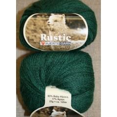 Rustic Baby Alpaca, flaskegrøn