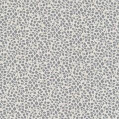 Bomuld m/blad-ranker hvid/lysegrå