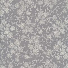Bomuld m/blomster skærme lysegrå/hvid