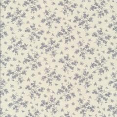 Bomuld m/grene med blomster i hvid/lysegrå