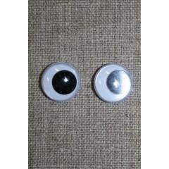 Bamse øjne -Rulleøjne 15 mm.