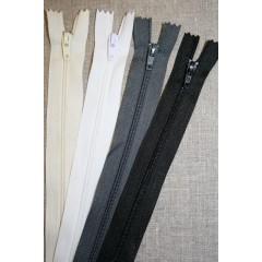 40, 50 og 60 cm. lynlås/kjolelås