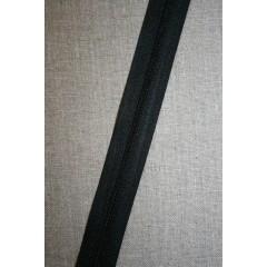 Lynlås i metermål, sort