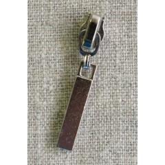 Lynlås-skyder med aflangt vedhæng i sølv