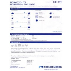 Freudenberg ILC151 - Nonwoven indlæg til masker