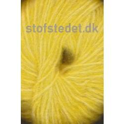Børstet uld fra Hjertegarn i støvet gul