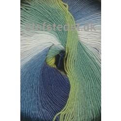 Hjertegarn - Long Colors i grøn, denim, hvid