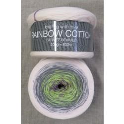 Rainbow Cotton 100% bomuld i babylyserød grå lime lilla