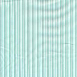 Bomuld med smalle striber i hvid og aqua