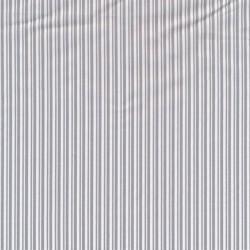 Bomuld med smalle striber i hvid og lysegrå