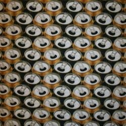 Bomulds jersey økotex digitalt print med øldåser
