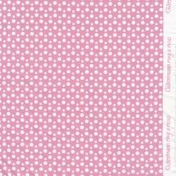 Bomulds jersey økotex i rosa med prikker - Gütermann