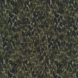 Strik med dyreprint i army mørkegrøn og beige
