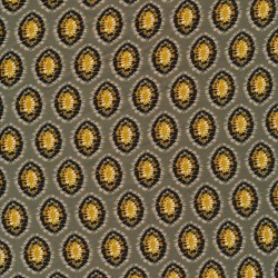 100% viskose twill-vævet med ovalt mønster i lys khaki-grøn