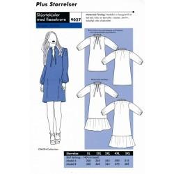 Onion 9027 Plus -Skjortekjole med flæsekrave