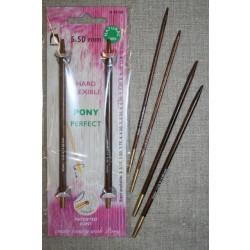 Pony Perfect udskiftelige bambus pinde str.3-5½