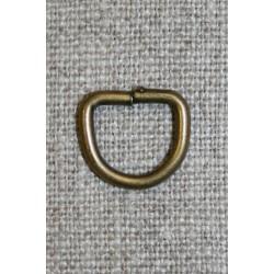 D-ring gl.messing, 10 mm.