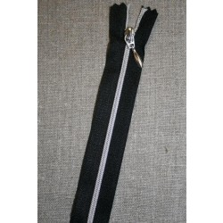 30-70 cm. delbar lynlås sort/sølv